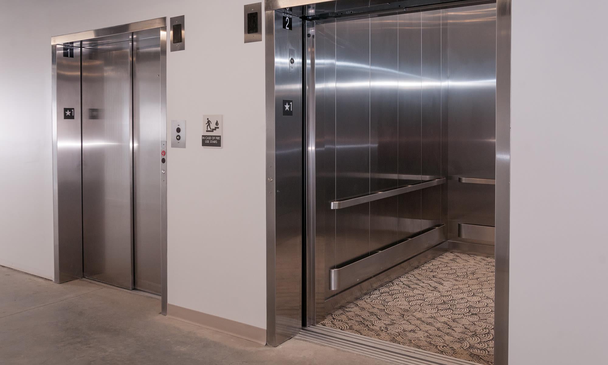 Oversized Dual Elevators at Virginia Varsity Self Storage in Roanoke, Virginia