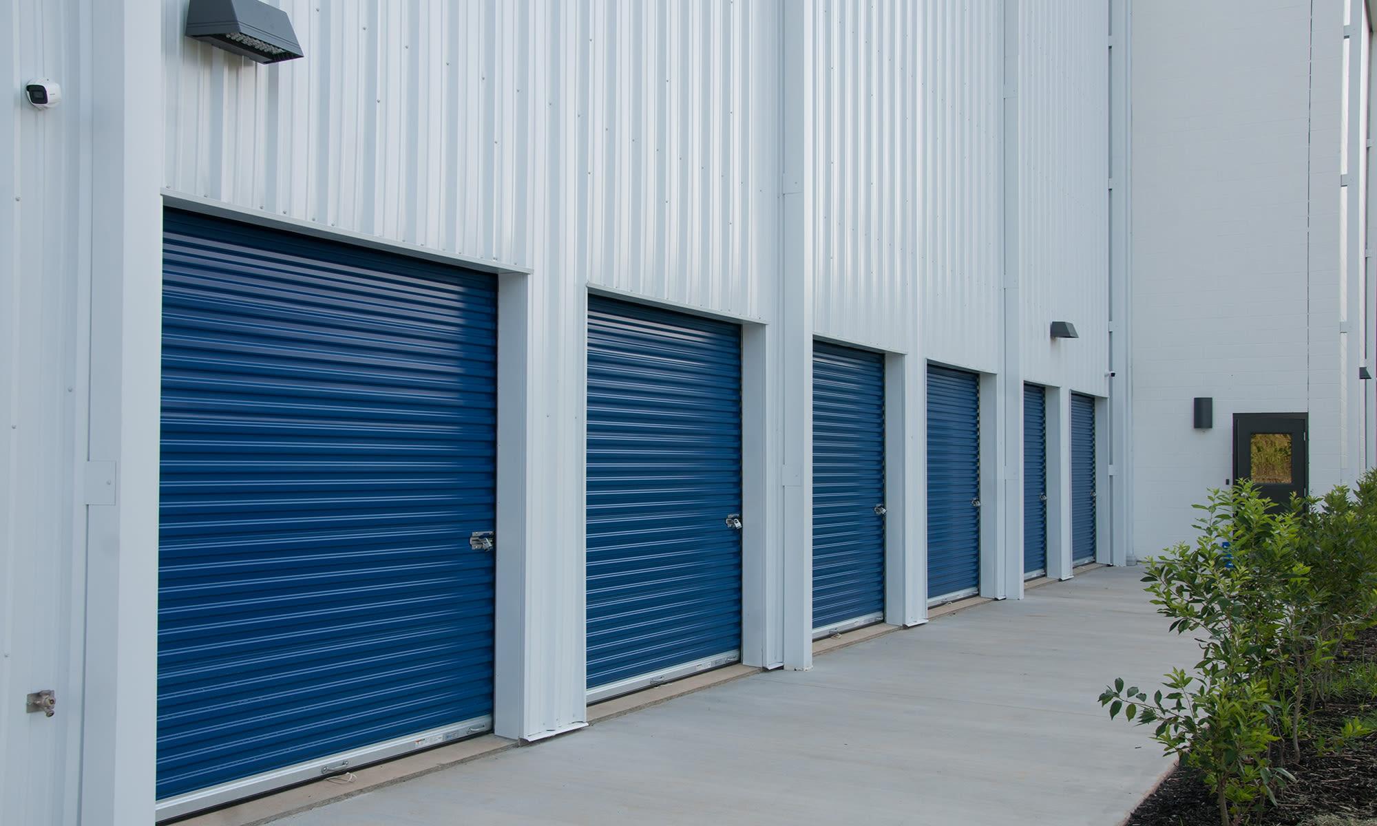 Exterior Units at Virginia Varsity Self Storage in Roanoke, Virginia is located