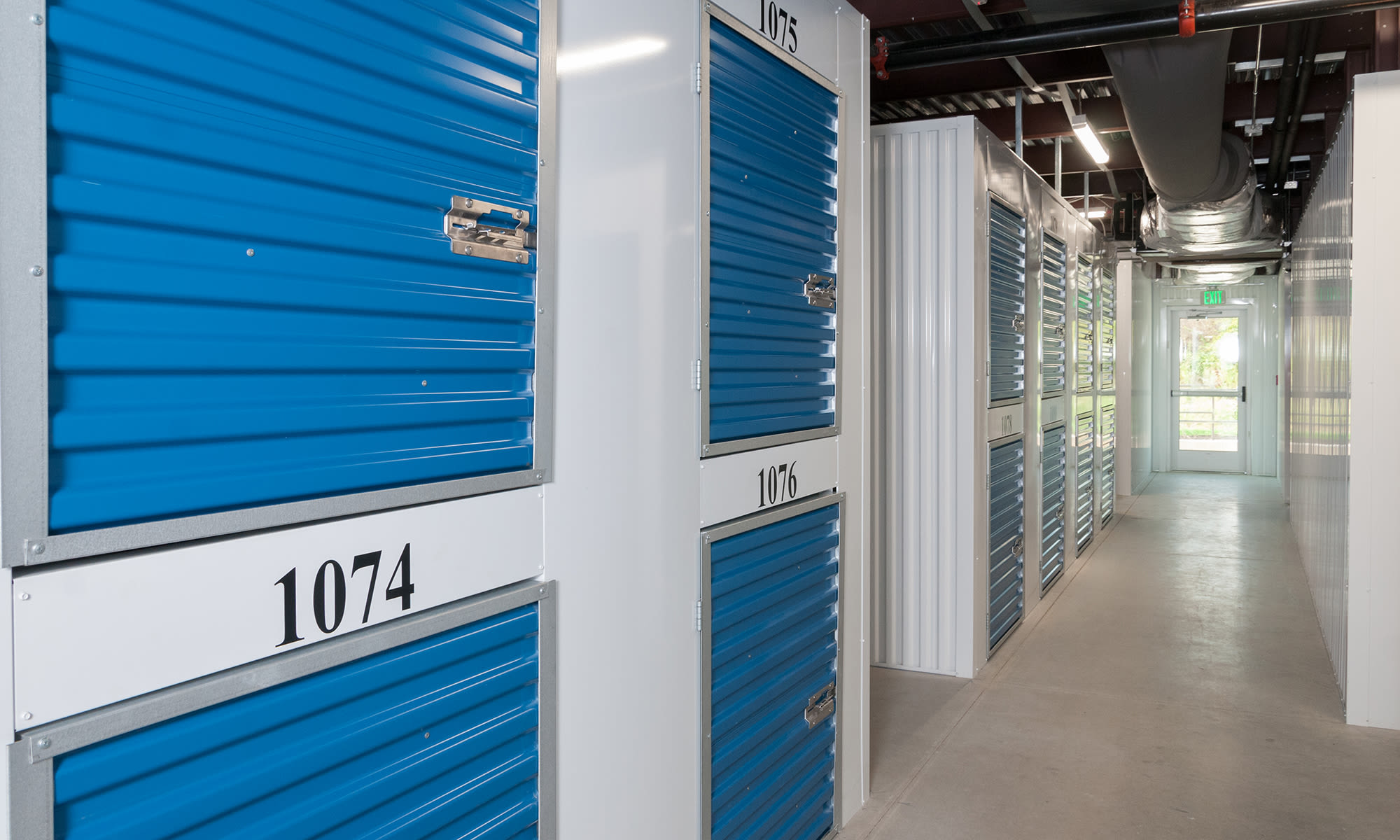 Small Locker Sized Units at Virginia Varsity Self Storage in Roanoke, Virginia is located