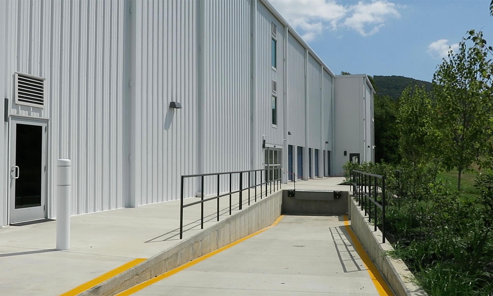 Tractor Trailer Accessible Dock at Virginia Varsity Self Storage in Roanoke, Virginia is located