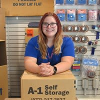 Photo of store manager in storage office in Concord, CA