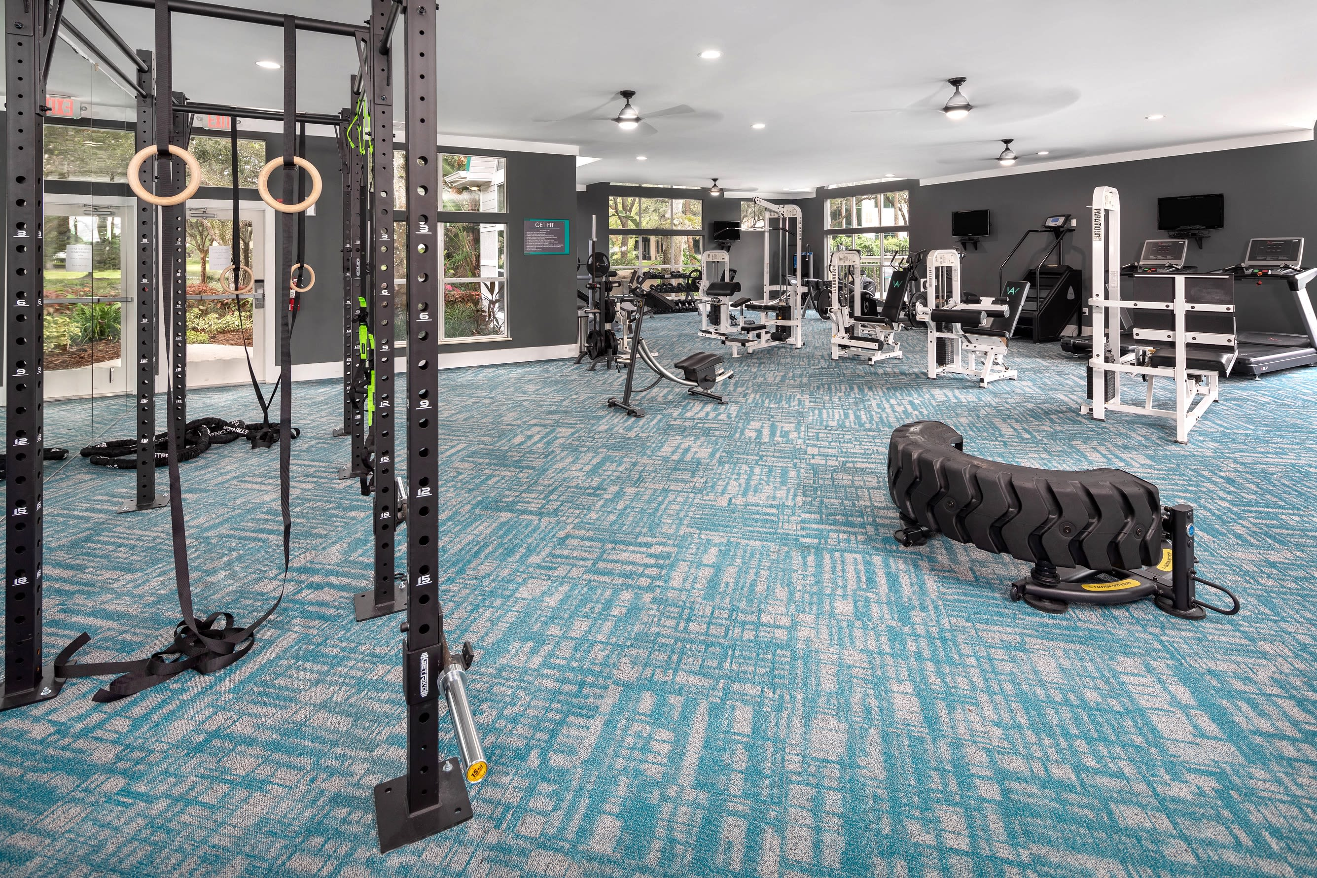 Onsite fitness center at Amira at Westly in Tampa, Florida