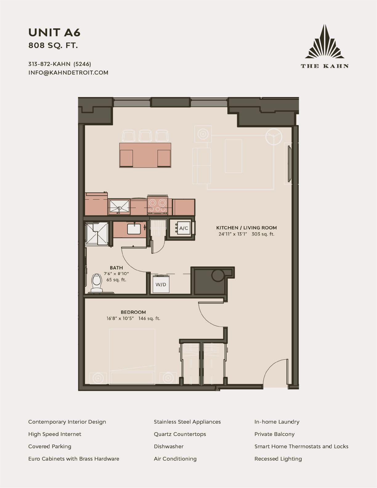 A6 floor plan image