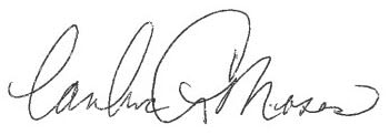 Signature of the president at Merrill Gardens at Rockridge in Oakland, California