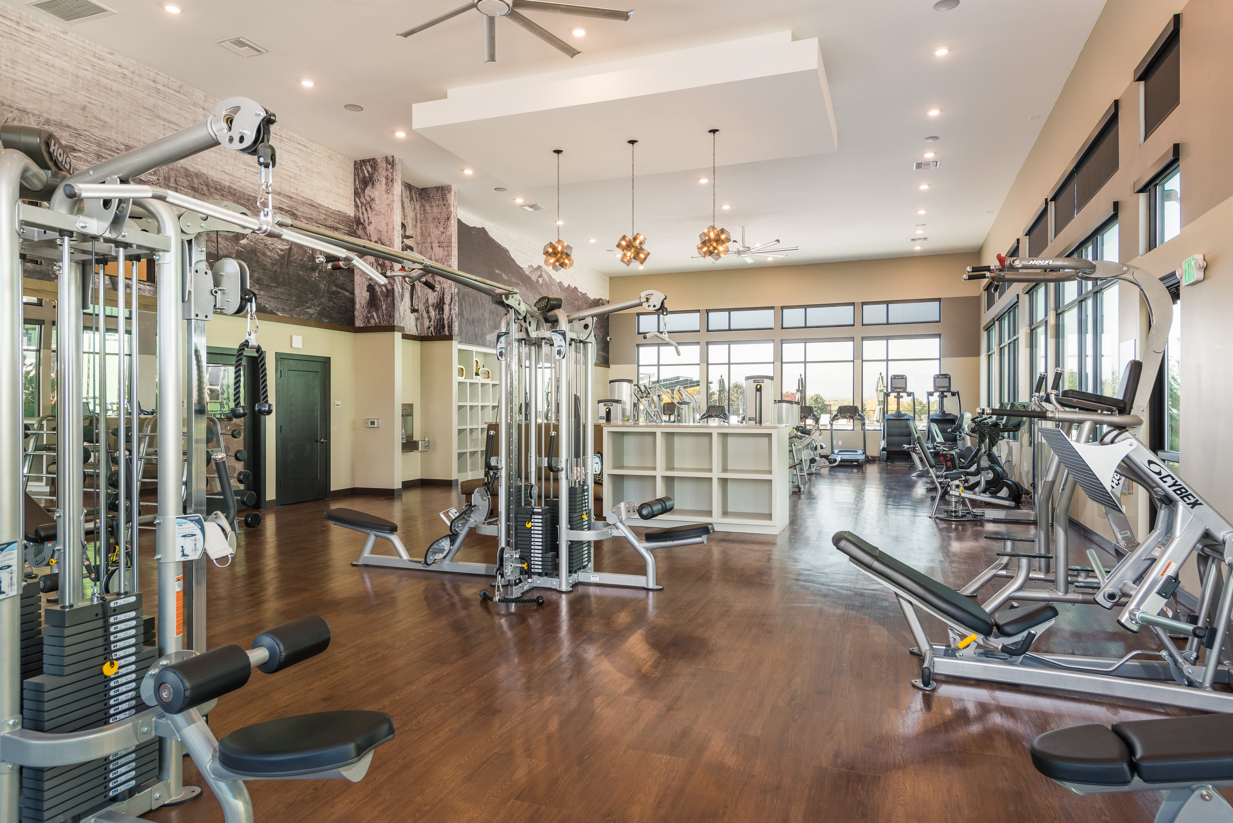 State of the art fitness center is just one of the amenities offered at Solana Lucent Station
