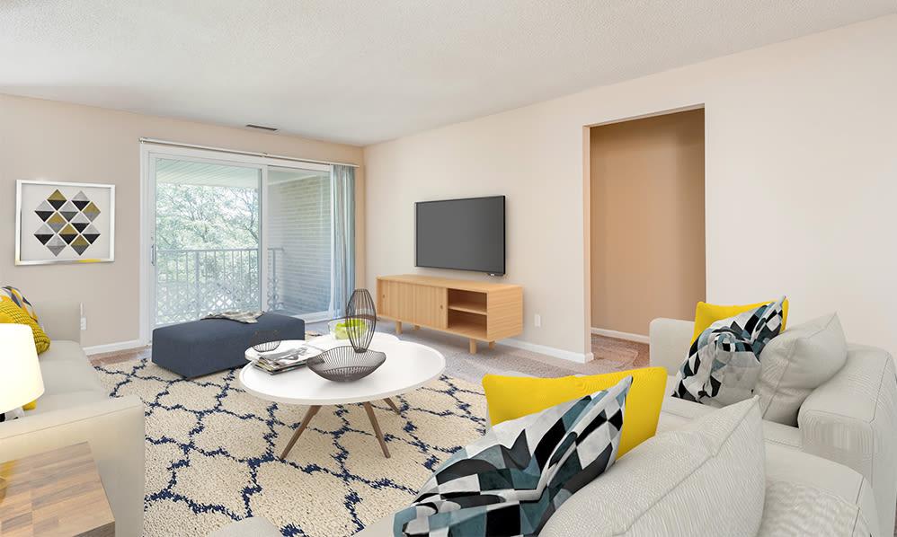 Living room at Regency Lakeside Apartment Homes