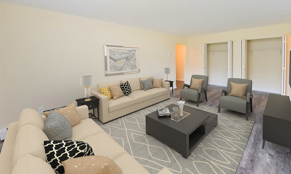 Large living room at Imperial Gardens Apartment Homes in Middletown, NY