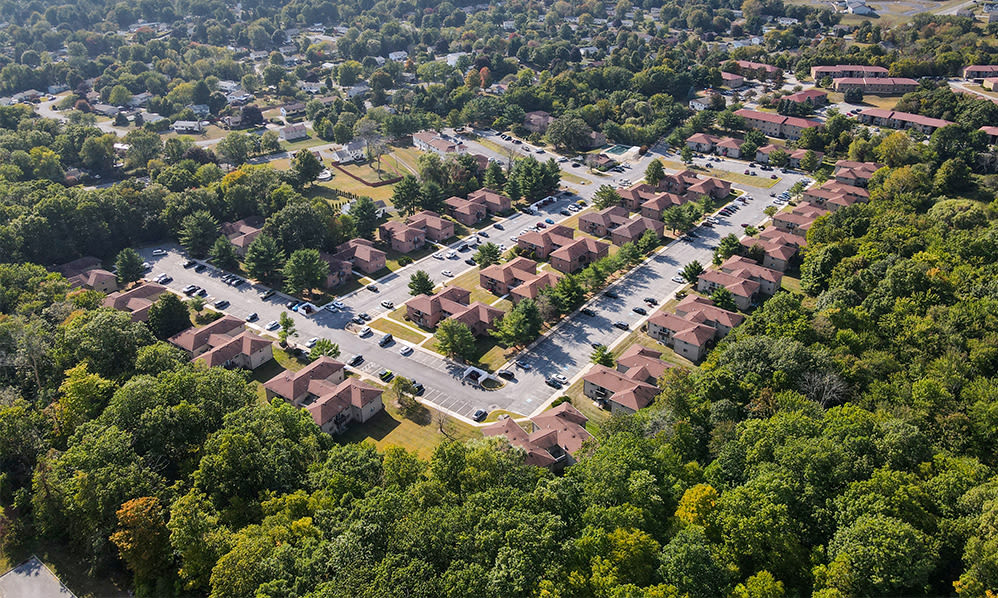 Aerial view  at Imperial Gardens Apartment Homes in Middletown, NY