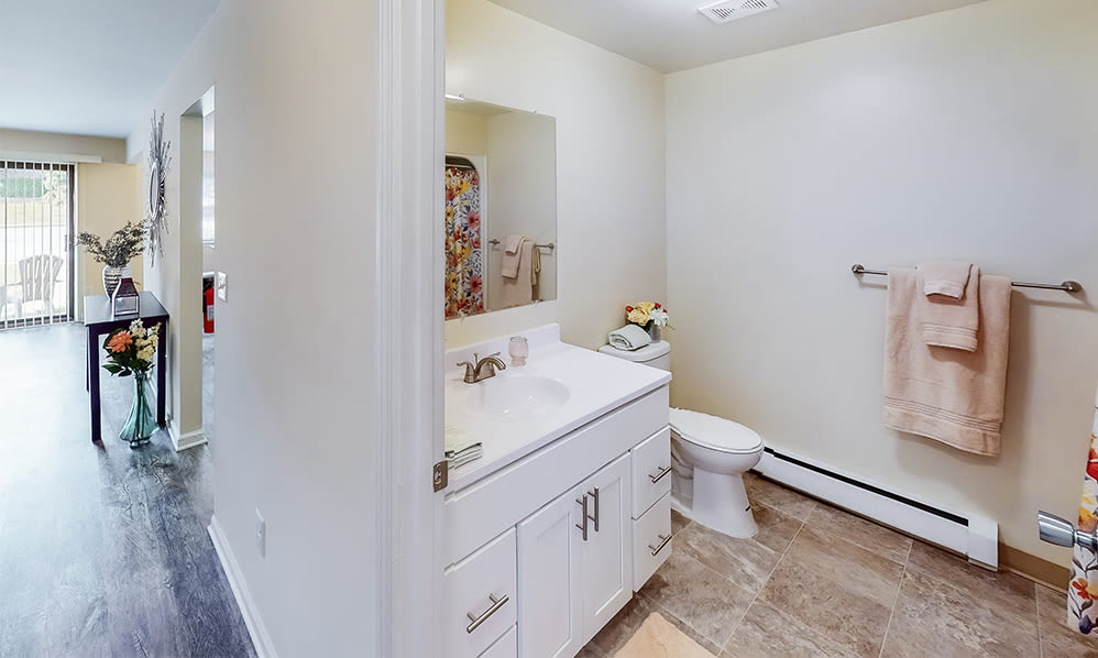 Bathroom at Imperial Gardens Apartment Homes in Middletown, NY