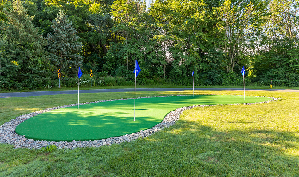 Putting green at Webster Green in Webster, New York