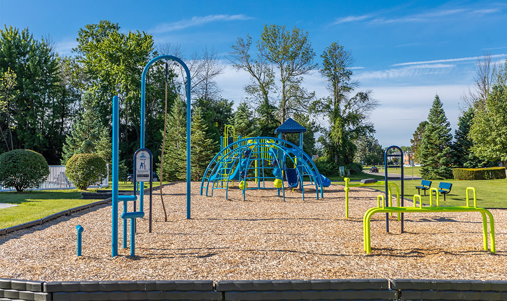 Playground at Webster Green in Webster, New York