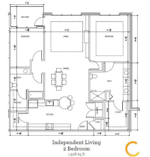 New independent living 2 bedroom at Celebration Village Forsyth in Suwanee, Georgia