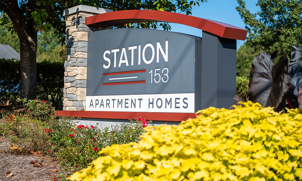 Entrance at Station 153 Apartment Homes in Anderson, South Carolina