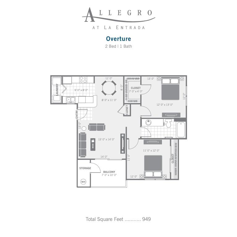 A3 Overture 2d floor plan image
