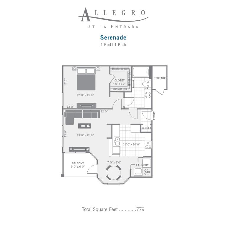 A2 Serenade 2d floor plan image