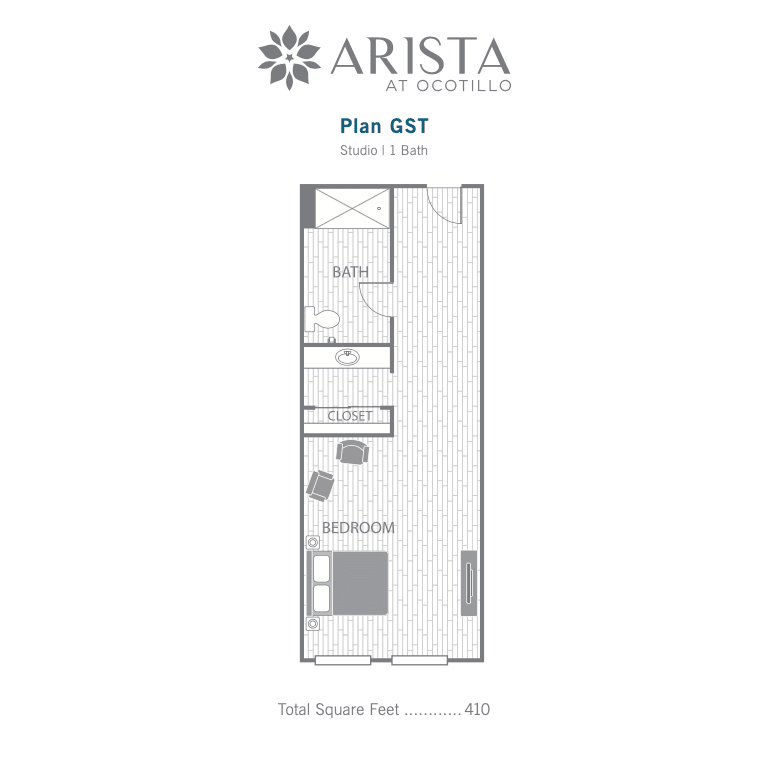 Guest Suite 2D floor plan image
