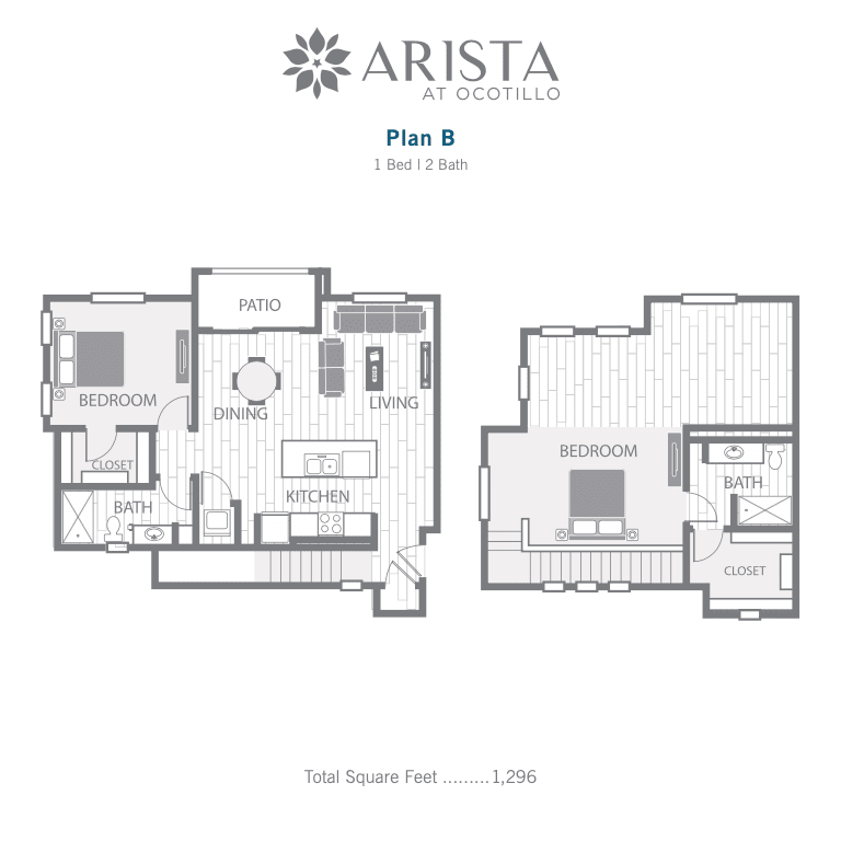 B 2D floor plan image