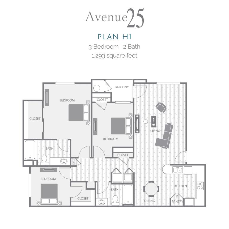 H1 2D floor plan image