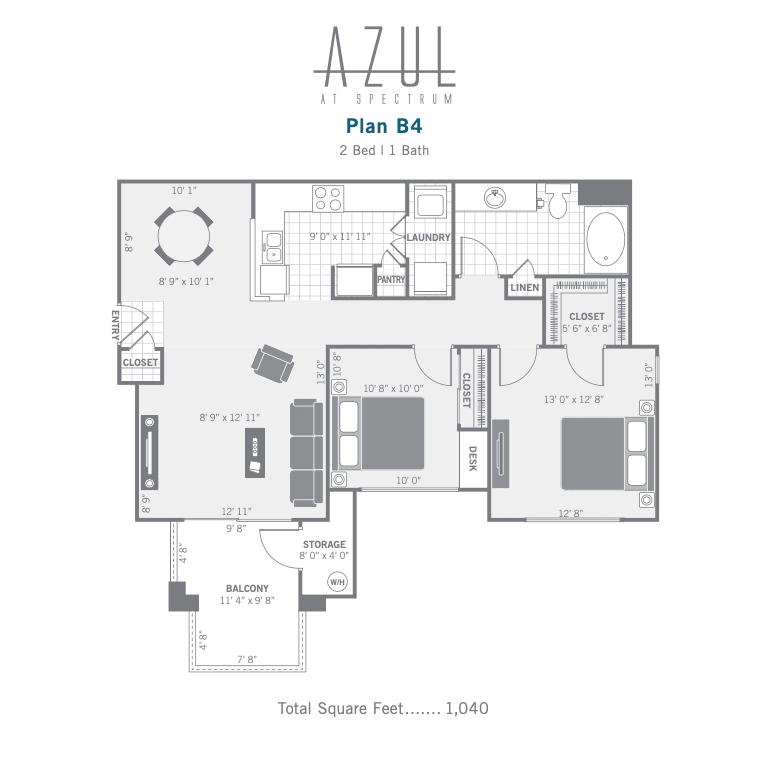 B4 2d floor plan