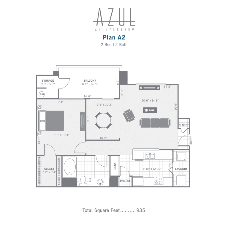 A2 2D floor plan Image
