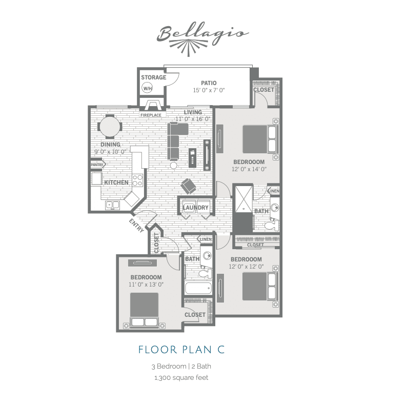 C 2D floor plan image