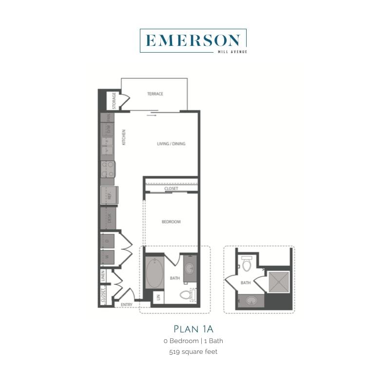 Studio1A 2D floor plan image