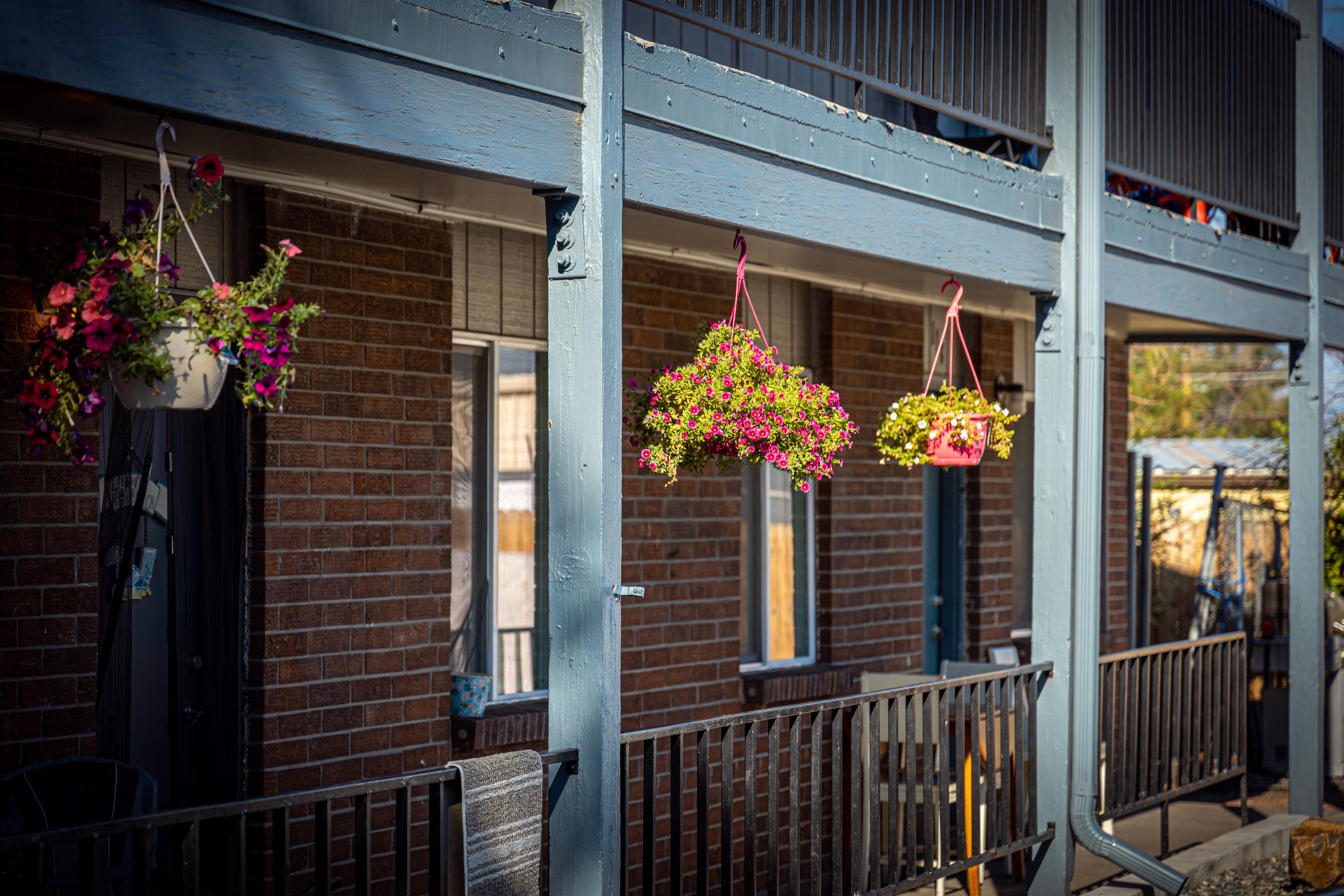 Balcony at Crestone Apartments in Brighton, Colorado