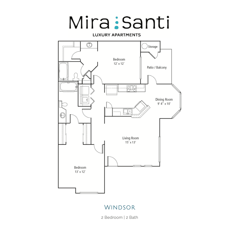 Windsor 2d floor plan
