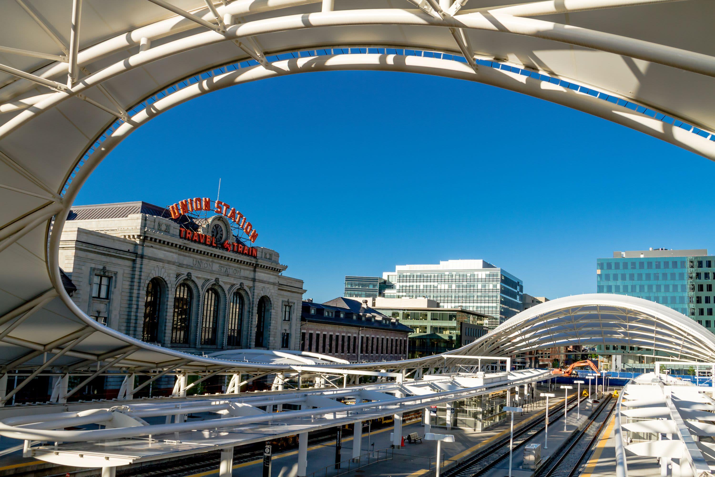 View of Union Station near Crestone Apartments in Brighton, Colorado