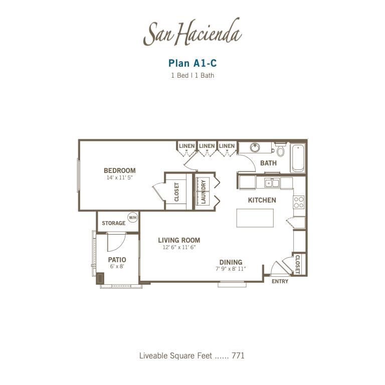 A1-C 2d floor plan