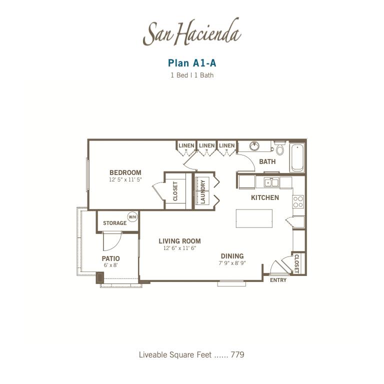 A1-A 2d floor plan