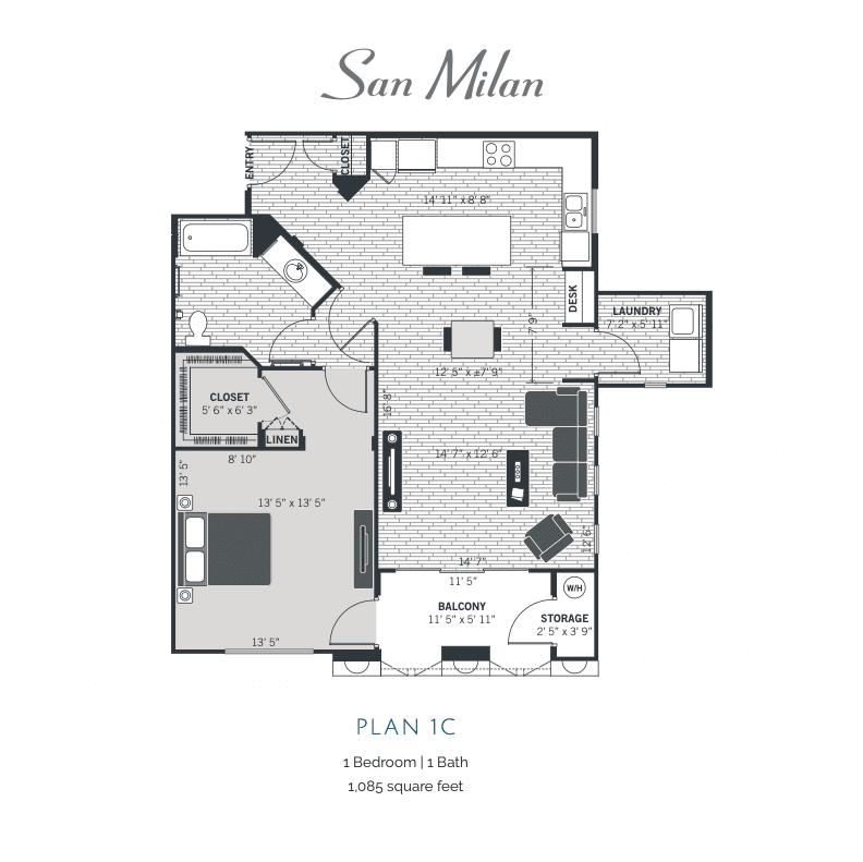 Plan 1C 2D floor plan image