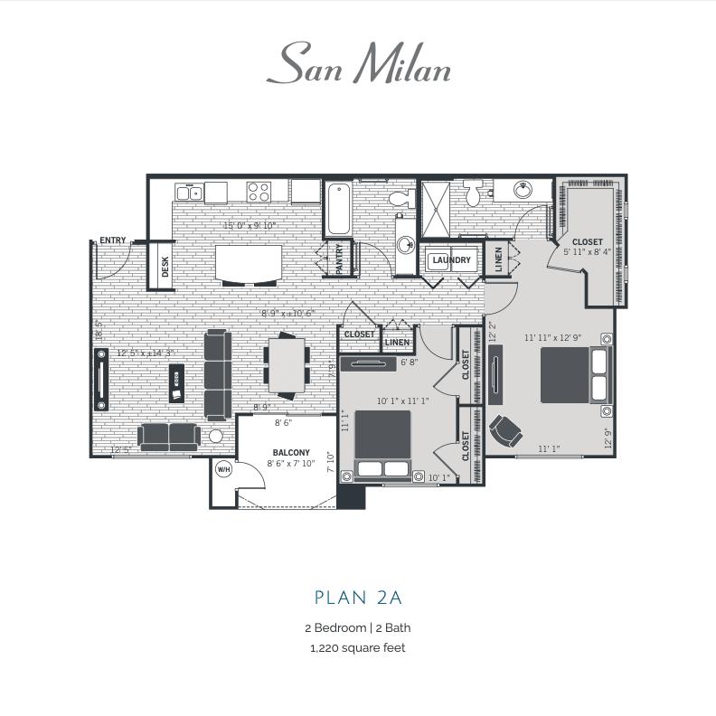 Plan 2A 2d floor plan