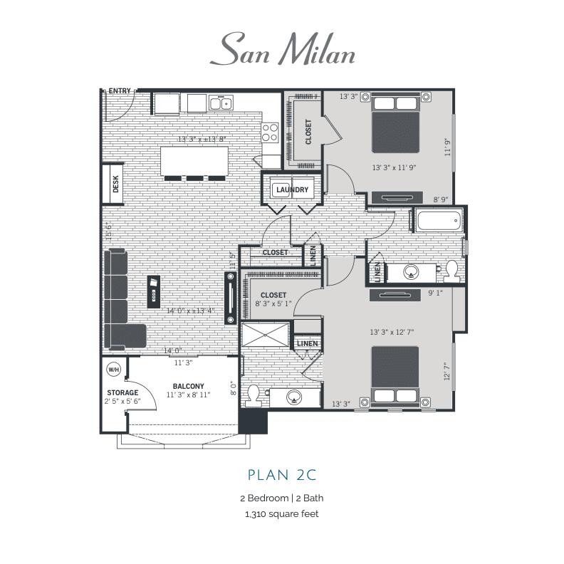 Plan 2C 2d floor plan