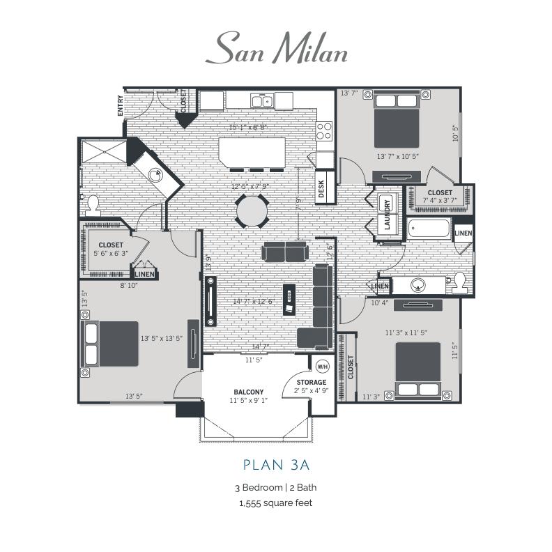 Plan 3A 2d floor plan