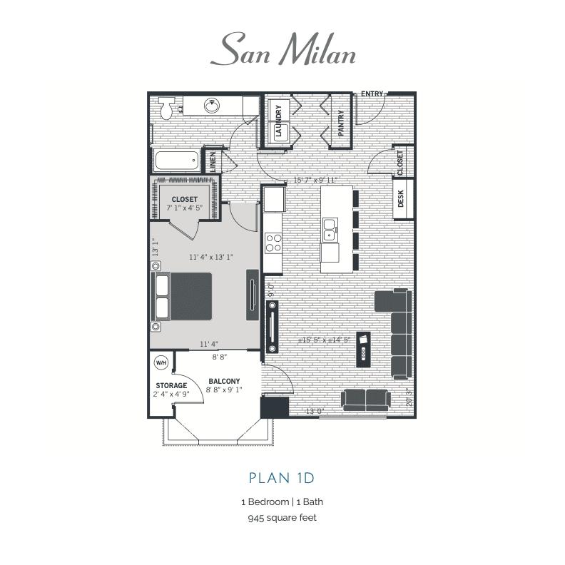 Plan 1D 2D floor plan Image
