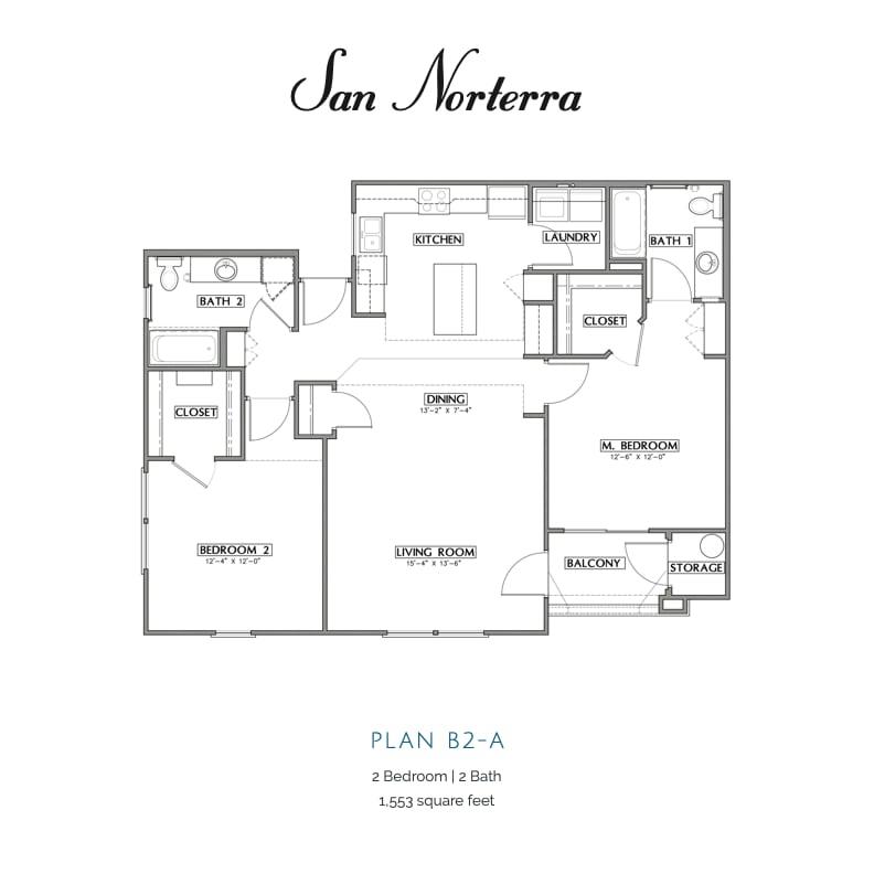 Plan B2-A 2d floor plan