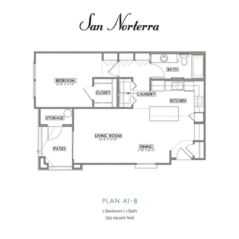 Plan A1-B 2D floor plan image