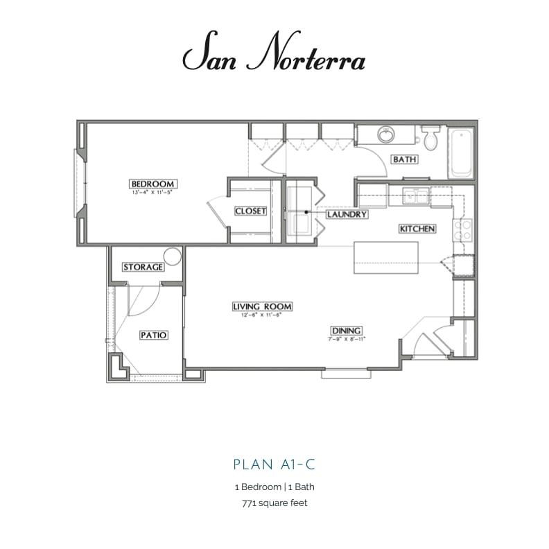 Plan A1-C 2D floor plan Image