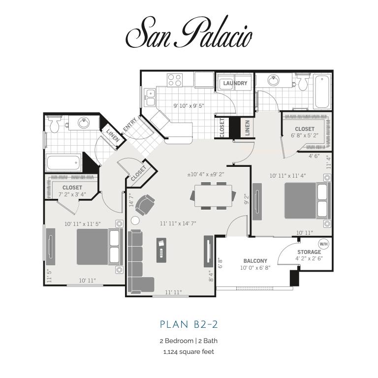 B2-2 2d floor plan