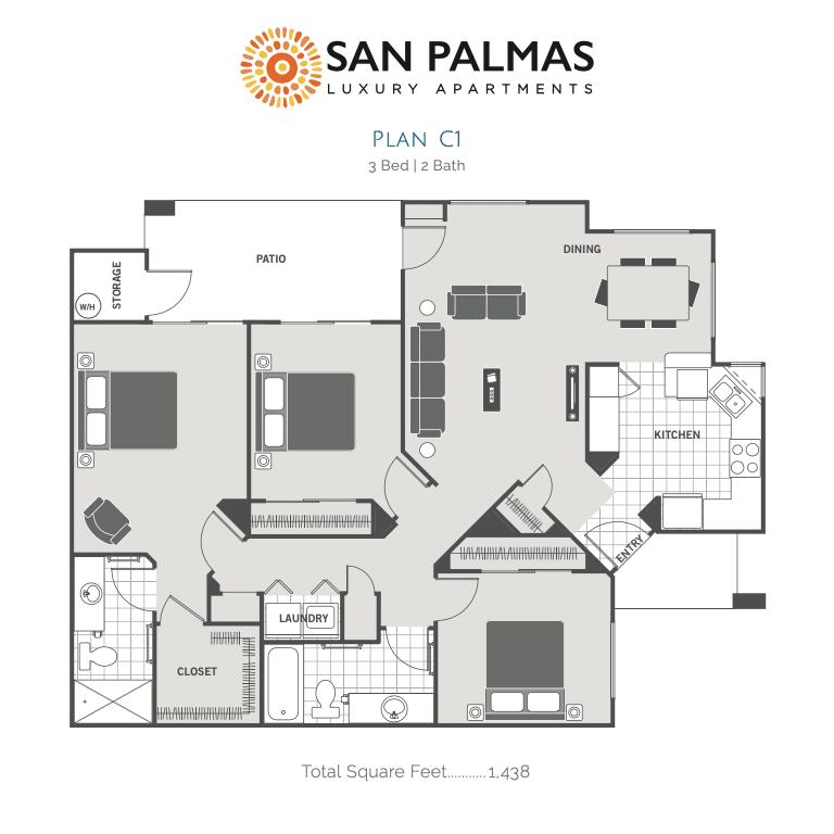 C 2d floor plan