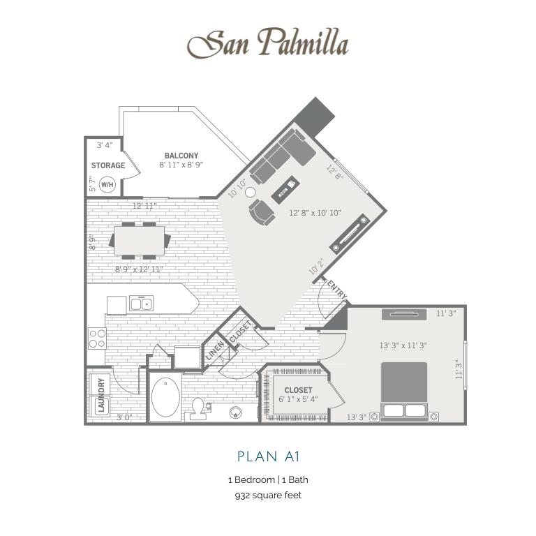 A1 2D floor plan image