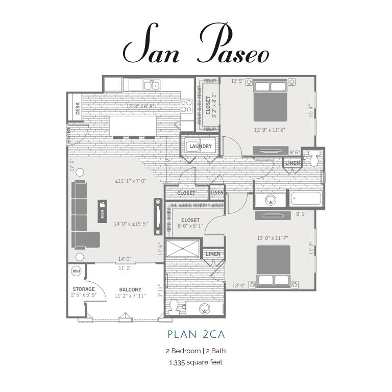 2CA 2d floor plan