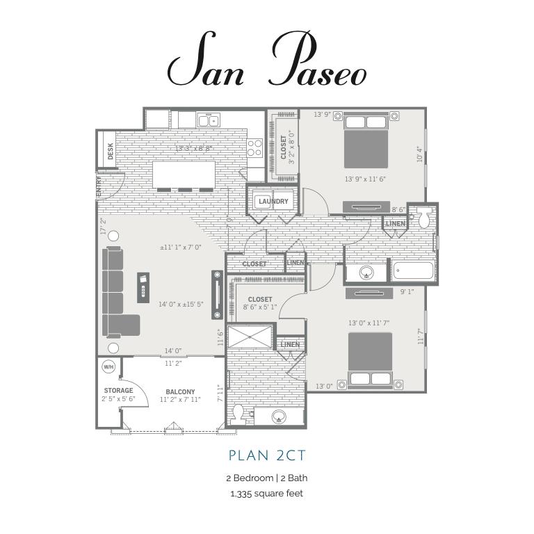 2CT 2d floor plan