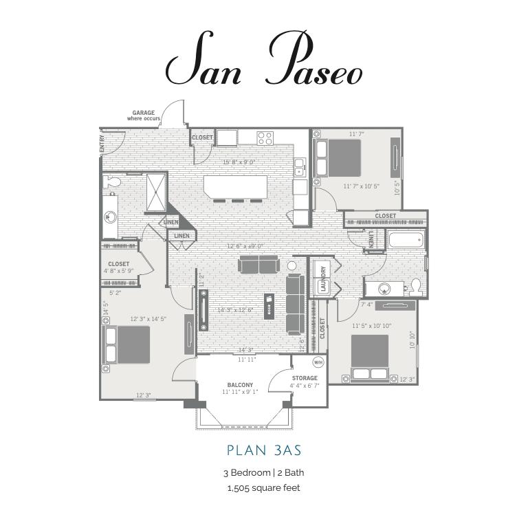 3AS 2d floor plan
