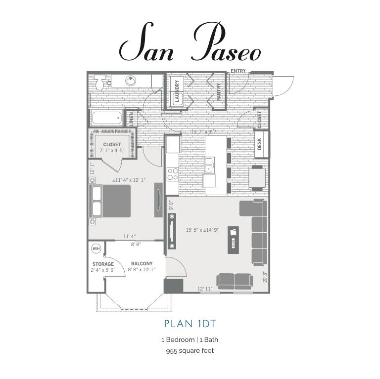 1DT 2d floor plan