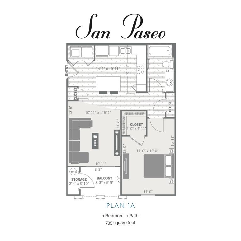 1A 2D floor plan image
