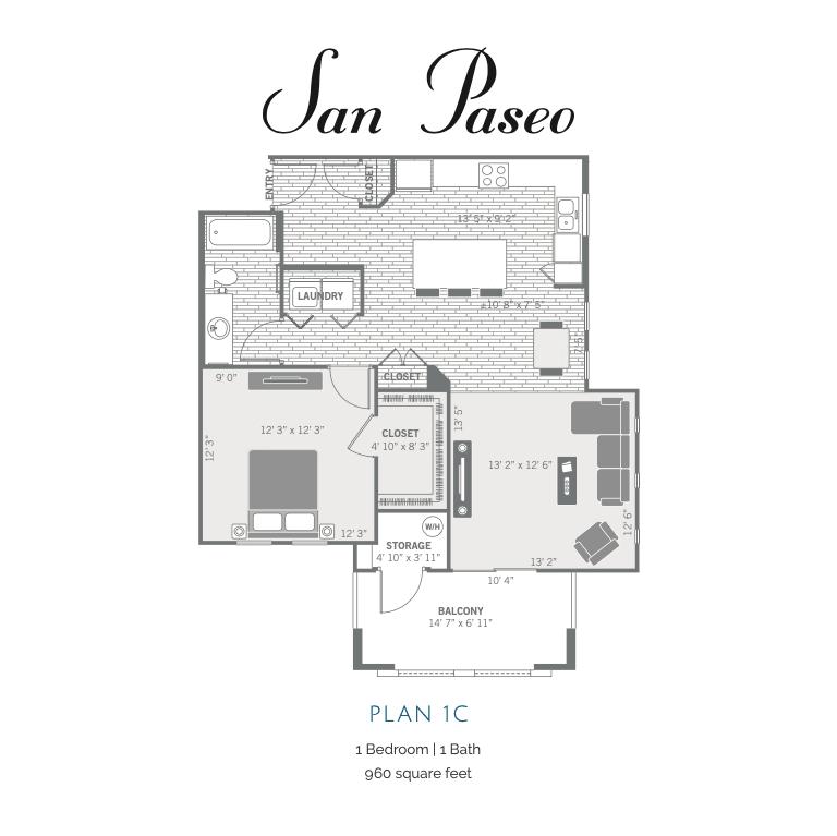 1C 2D floor plan image