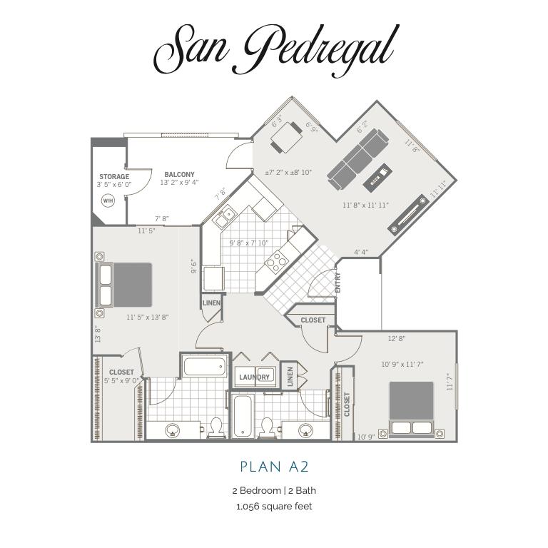 A2 2D floor plan Image