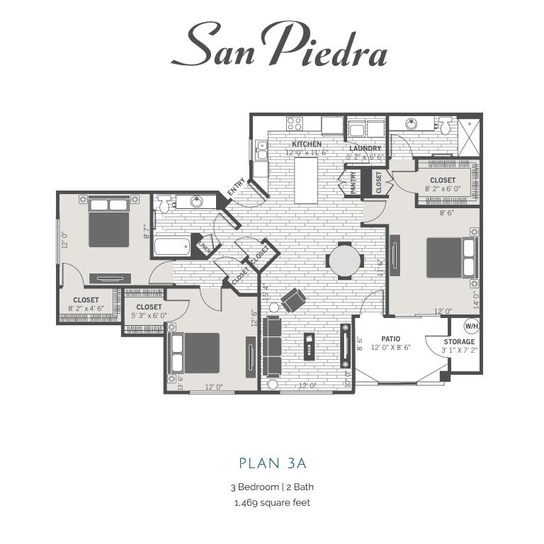 3A 2d floor plan